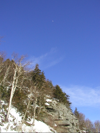 This photo was take on Leap Year, 2004, near the top of Mt. Stark in Waitsfield, VT.  Rt 17 goes up through the notch and is a beautiful drive at any time of the year.  Steep and windy though, so I wouldn't suggest it right after a snowstorm.